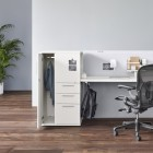 Aeron, Aeron Chair with Tu Metal Storage